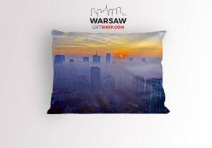 Warszawa we mgle - poduszka dekoracyjna WarsawGiftShop.com