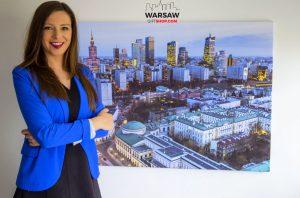 Warszawskie wieżowce wieczorową porą fotoobraz WarsawGiftShop