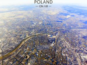 Zima w Warszawie z lotu ptaka fotoobraz z kolekcji WARSAW ON AIR