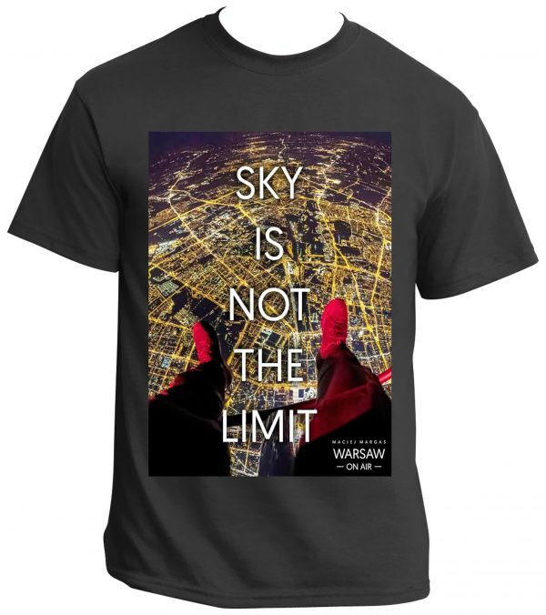 0c2d21007d14 SKY IS NOT THE LIMIT t-shirt from WARSAW ON AIR collection POLAND ON AIR