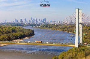Most Siekierkowski i skyline fotoobraz WarsawGiftShop.com