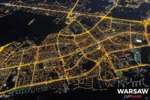 Ursynów z lotu ptaka nocą fotoobraz na płótnie WarsawGiftShop.com