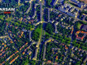 Żoliborz Plac Inwalidów z lotu ptaka fotoobraz WarsawGiftShop.com