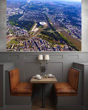 Wisła i centrum Warszawy z lotu ptaka fotoobraz WarsawGiftShop