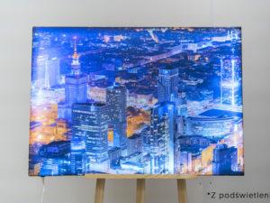Nocne Wieżowce podświetlany fotoobaz artlight canvas