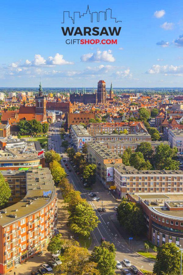 Słoneczny Gdańsk fotoobraz pionowy WarsawGiftShop.com