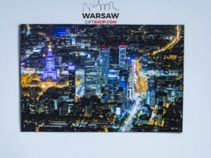 Warsaw-Skyscrapers-at-night-XXL-Magnes