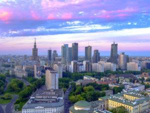Warszawski świt fotoobraz pionowy WarsawGiftShop
