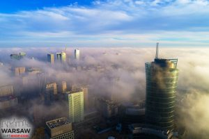 Miasto we mgle fotoobraz WARSAWGIFTSHOP