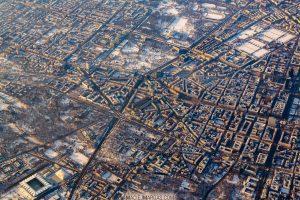 Warszawa z lotu ptaka - Łazienki Królewskie i Stadion Legii zimą fotoobraz Warszawa z lotu ptaka - Łazienki Królewskie i Stadion Legii zimą fotoobraz