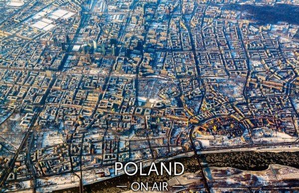 Zima w Warszawie z lotu ptaka fotoobraz WARSAWGIFTSHOP