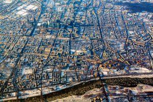 Zima w Warszawie z lotu ptaka fotoobraz WARSAWGIFTSHOP.com