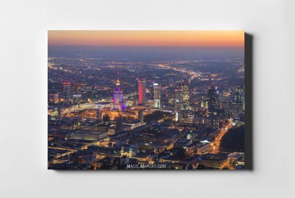 Zachód słońca nad Warszawą fotoobraz WARSAW ON AIR