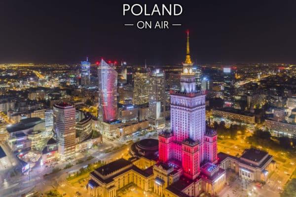 Biało-czerwone centrum Warszawy – fotoobraz