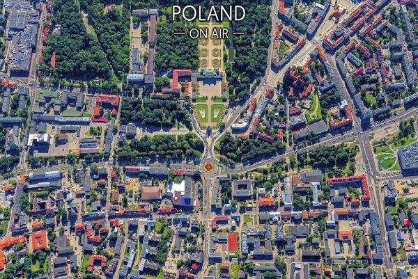 Białystok ON AIR fotoobraz na płótnie z kolekcji POLAND ON AIR