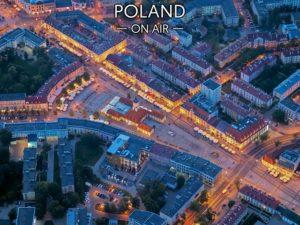 Nocny Białystok ON AIR fotoobraz na płótnie