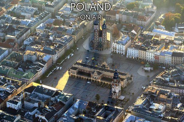 Rynek w krakowie On Air fotoobraz na płótnie