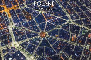 Szczecin ON AIR nocą fotoobraz z kolekcji POLAND ON AIR