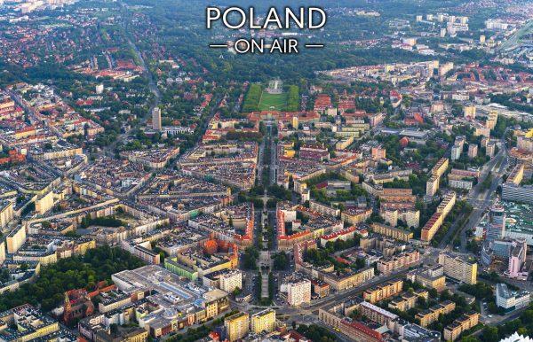 Szczecin ON AIR! Fotoobraz na płótnie z kolekcji POLAND ON AIR