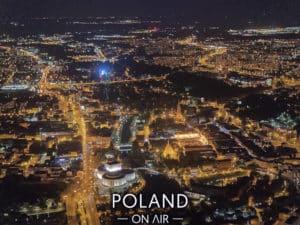 Centrum Bydgoszczy nocą