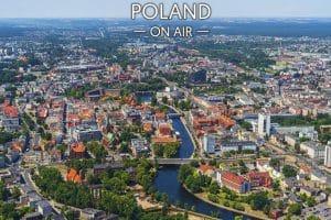 Fotoobraz Bydgoszcz ON AIR! Centrum fotoobraz na płótnie z kolekcji POLAND ON AIR