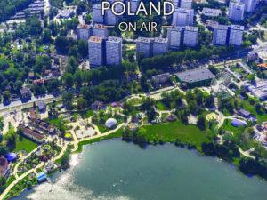 KATOWICE ON AIR Park Śląski i wesołe miasteczko fotoobraz z kolekcji POLAND ON AIR