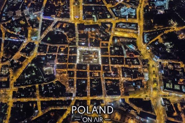 Stare Miasto w Poznaniu nocą