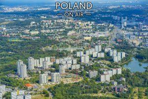 Zielone Katowice ON AIR! Osiedle Tysiąclecia i Park Chorzowski fotoobraz z kolekcji POLAND ON AIR