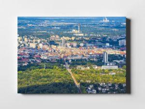 Katowice ON AIR Park Kościuszki fotoobraz na płótnie z kolekcji POLAND ON AIR