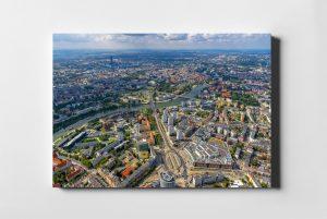 WROCŁAW ON AIR Plac Grunwaldzki - fotoobraz na płótnie z kolekcji POLAND ON AIR