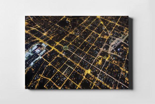 ŁÓDŹ ON AIR Nocą fotoobraz z kolekcji POLAND ON AIR