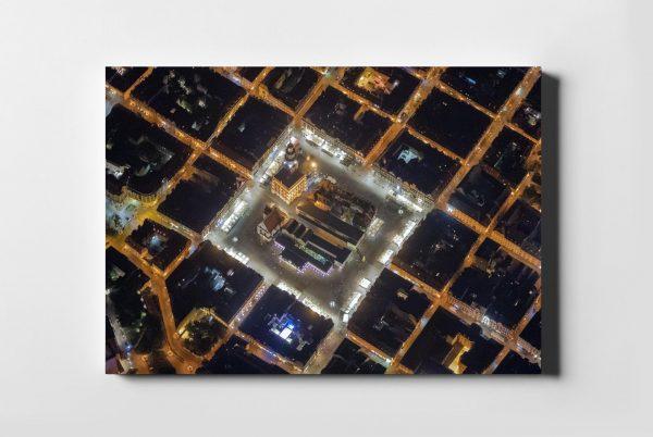 POZNAŃ ON AIR rynek nocą - fotoobraz z kolekcji POLAND ON AIR
