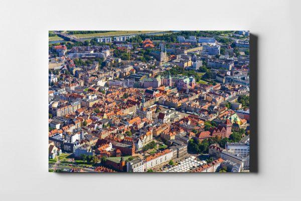 Kolorowy POZNAŃ ON AIR fotoobraz z kolekcji POLAND ON AIR