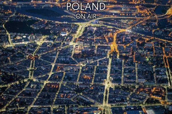 Szczecin ON AIR konstelacje - fotoobraz z kolekcji POLAND ON AIR