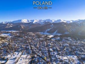 Tatry i Zakopane zimą ON AIR fotoobraz na płótnie z kolekcji POLAND ON AIR