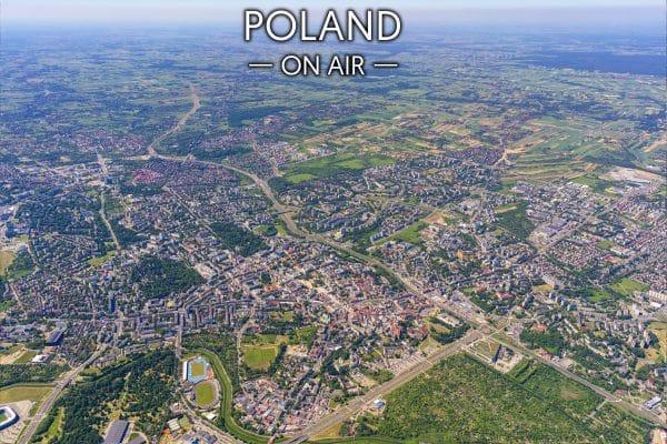 Zielony Lublin ON AIR fotoobraz na płótnie POLAND ON AIR