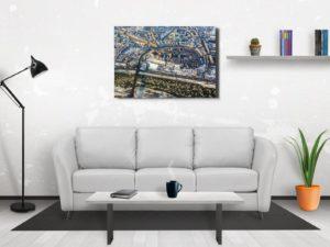 Stare Miasto z lotu ptaka zimą. Fotoobraz z kolekcji WARSAW ON AIR!