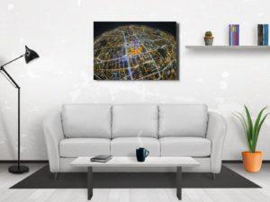Planeta Warszawa fotoobraz z kolekcji WARSAW ON AIR