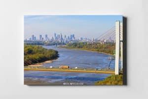 WARSAW ON AIR Most Siekierkowski z lotu ptaka fotoobraz na płótnie