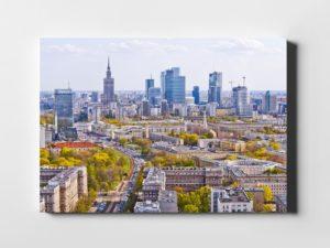 Wiosna w Warszawie fotoobraz na płótnie WARSAW ON AIR