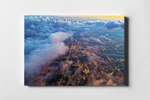 Warszawa w chmurach fotoobraz na płótnie WARSAW ON AIR