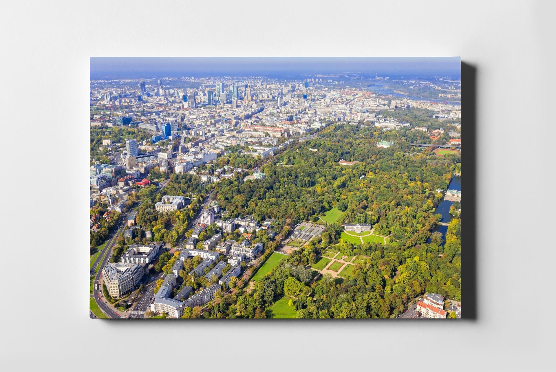 fd430dd886c1 Łazienki Królewskie Warszawa z lotu ptaka fotoobraz na płótnie POLAND ON AIR