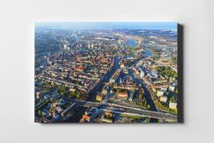 Gdańsk On Air kolorowe centrum z lotu ptaka