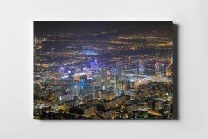 Warszawa nocą z lotu ptaka - fotoobraz z kolekcji WARSAW ON AIR!