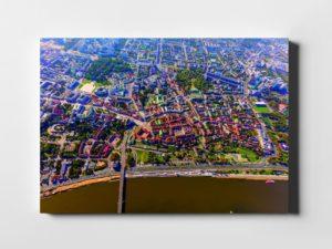 Stare Miasto i bulwary Wiślane z lotu ptaka