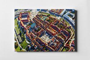 Stare Miasto w Warszawie z lotu ptaka fotoobraz z kolekcji WARSAW ON AIR!