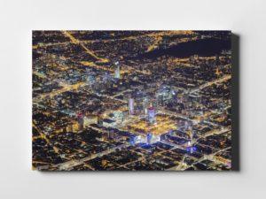Warsaw On Air Centrum Warszawy z wysokości 3km nad ziemią fotoobraz na płótnie z kolekcji WARSAW ON AIR!