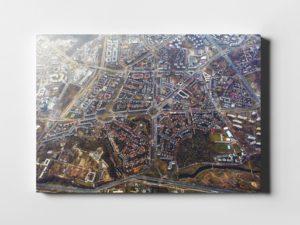 Żoliborz z lotu ptaka jesienią fotoobraz na płótnie WARSAW ON AIR