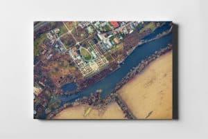 Pałac w Wilanowie z lotu ptaka - fotoobraz na płótnie z kolekcji WARSAW ON AIR!