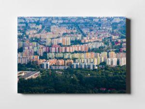 Kolorowa Chomiczówka z lotu ptaka fotoobraz na płótnie Aleksandry Łogusz